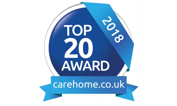 'Top 20 Recommended Care Home Group 2018' Award